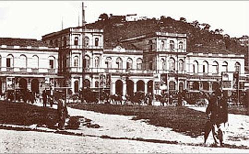 Fachada principal da Estação Central da Estrada de Ferro D. Pedro II. S/d. Acervo Memória da Eletricidade